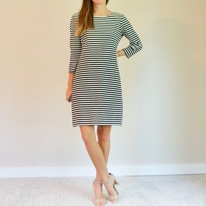 XS Old Navy Black and White Striped Dress
